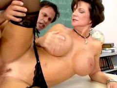 Teacher Deauxma sex in stockings