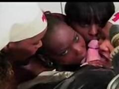 Ebony Nurses Take Care Of White Man