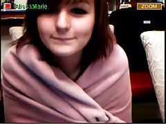 Emo teen cutie shows her tiny tits and pussy on cam