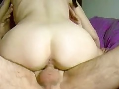 Riding a big hard French cock on amateur tape