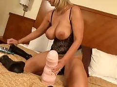 Wicked Alysha large plastic prick in here slit