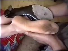 Aged Nylon Footjob