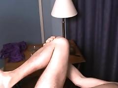 Mistress tortures her tied up sluts cock and balls