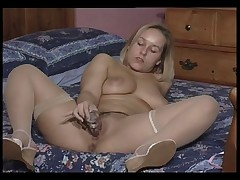 British whore Ashley plays with herself in various scenes