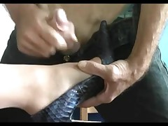 Shoe fetish video with hot foot job