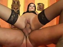 Dark Brown In Nylons Gives Footjob & Acquires Screwed
