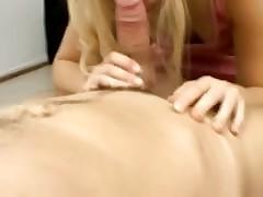 Blonde bitch gets the bukkake gangbang treatment