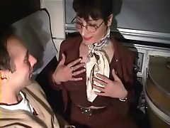 European MILF slut enjoys sexy fun on the train