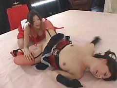 Yuka Oosawa lesbo wrestling 1