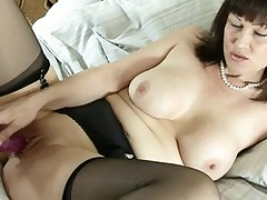 Lascivious british mother i'd like to fuck dildoying