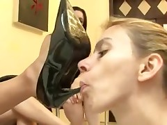 Lesbian whores in foot fetish action