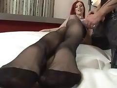 sexy footjob scene with jizz flow