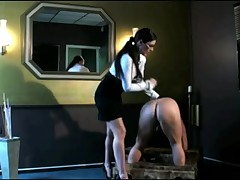 Domina Spanks His Arse!!!!!!!