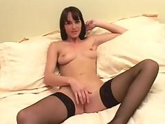British bitch Frankie receives drilled in darksome hold-ups