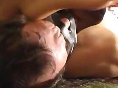 two Italian dominatrix-bitch sniffing feet