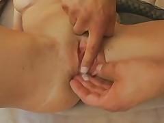 large tit slut acquires double creampie
