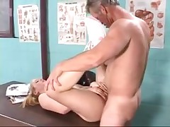 Teen fucks mature guy for his load of spunk