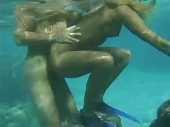 Sexy French chick fucked underwater by a big cock