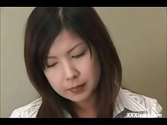 Shy Oriental In Nylons