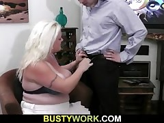 That Guy is licking her obese vagina in advance of fucking