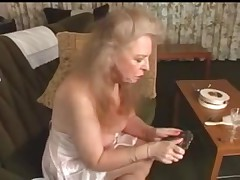 Old blonde and horny whore getting a hardcore pounding