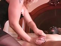 Balls-castigation after cum