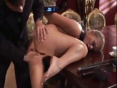 Blonde slave girl used by master for his pleasure