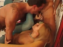 2 mates and a angel with blue nylons