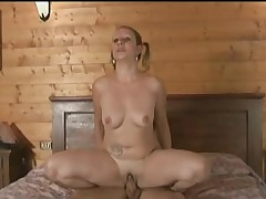 Awesome blonde banged in mature on young porn