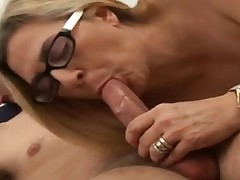 Aged golden-haired with juvenile dude. This Babe love engulf