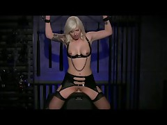 Golden-Haired Cums Her Brains Out on a Sybian