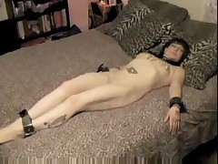 tattooed and pierced goth receives bound and screwed