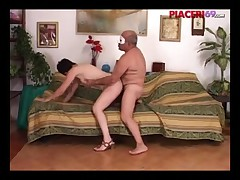 Older Italian couple fucking on camera