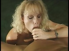 Golden-Haired sweetheart engulfing hard strapon