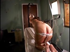 Nurse in hell: Painful enema, love muffins and love button agony.