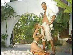Slut with golden hair gets a cumshot after a pounding