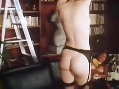 Retro lesbian sluts in hot action in black lingerie