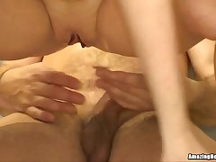 Golden-Haired Mother I'd Like To Fuck Likes Fucking Her Bf in the Kitchen