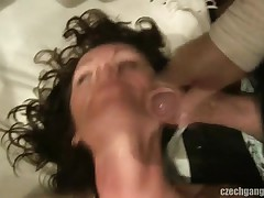 WIFE'S FANTASY COMES TRUE AT CZECH GANG TEAM FUCK