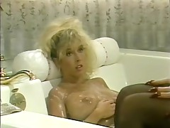 Two lesbian blonde cuties have cunt licking fun on bed