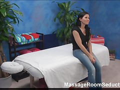 BustyTeen Enticed on Massage Table