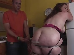 Sexy big beautiful woman-Mother I'd Like To Fuck hard Interracial in the Kitchen