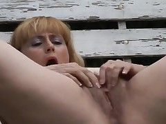 Chunky Older With Bushy Vagina Outdoors by TROC