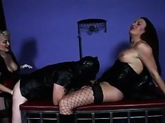 Delightsome dominatrix and sheboy dominates bondman