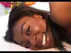 Skinny French ebony bitch picked up and fucked