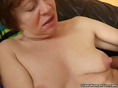 Hard nippled granny acquires screwed by fella half her age