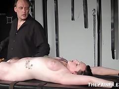 Tattooed non-professional slaves punishment rack thraldom