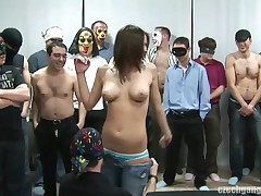 BREASTY ANGEL AT CZECH GANG GANGBANG PARTY