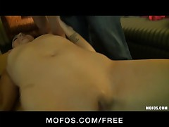 Mofos - 3 youthful strumpets disrobe down & begin fuckfest at a party
