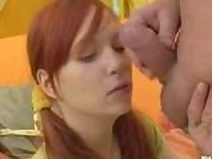 Redhead Teen & Old Man Having sex